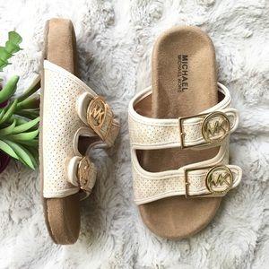 Michael Kors kids double strap slide sandal